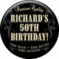 Vintage Dude Custom Birthday Magnet
