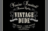 Vintage Dude Invitation