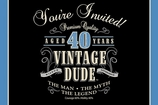Vintage Dude Invitation 40