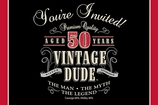 Vintage Dude Invitation 50