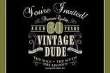 Vintage Dude Invitation 60