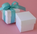 "White 2"" Square Box & Ribbon"
