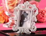 White Baroque Place Card Holder