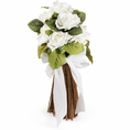 White Fabric Floral Bouquet Centerpiece