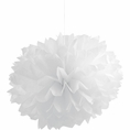 White Pom Pom Tissue Decorations