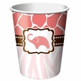 Wild Safari Pink 9 oz Cups