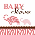 Wild Safari Pink Baby Shower