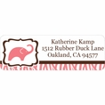 Wild Safari Pink Baby Shower Custom Address Labels
