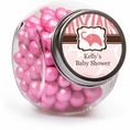 Wild Safari Pink Baby Shower Custom Candy Jars