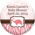 Wild Safari Pink Baby Shower Custom Magnet