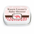 Wild Safari Pink Baby Shower Custom Mint Tins