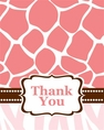 Wild Safari Pink Thank You Cards