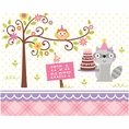 Woodland Creatures Girl Invitations