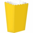 Yellow Popcorn Boxes