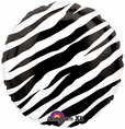 "Zebra Animal Print 18"" Foil Balloon Black and White"