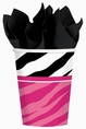 Zebra Party 9 ounce Paper Cups