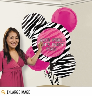 Hot Pink, black, and white zebra striped tableware for your birthday party or bridal shower.