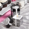 Zebra Stripe Black & White Scented Candle Favors