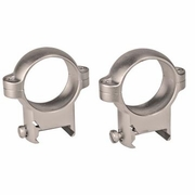 "Burris 420079, 1"" Zee Scope Ring Pair, Low, Nickel Finish"