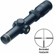 Leupold 110683, VX-R Riflescope, 1.25-4x20mm, FireDot German #4 Illuminated Reticle, Metric