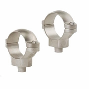 Leupold 49980, Quick Release Scope Rings, One Inch, High, Silver Finish