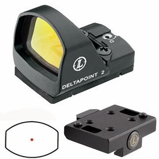 Leupold 118980 DeltaPoint 2 Reflex Sight, 3.5 MOA Dot with Cross Slot Mount, Matte Black Finish