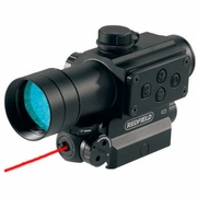 Redfield 117850 CounterStrike, Red Laser and Illuminated Scope, 1x, 4-MOA Red/Green Dot Reticle, Matte Finish