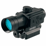 Redfield 117850, Red Laser and Illuminated Scope, 1x, 4-MOA Red/Green Dot Reticle, Matte Finish