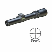 Weaver 849400, Classic V-3 Series Scope, 1-3x 20mm, Black Matte Finish, Dual-X Reticle