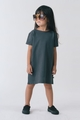 Go Gently Baby Organic French Terry Frock In Charcoal