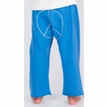Go Gently Baby Organic Peace Pants in Pacific Blue