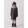 Go Gently Baby Organic Placket Dress in Charcoal