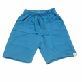Go Gently Baby Organic Rounded Roo Shorts in Pacific Blue