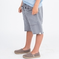 Go Gently Baby Organic Rounded Roo Shorts in Slate