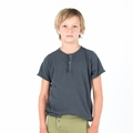 Go Gently Baby Organic Snap Henley in Charcoal - Coming soon!