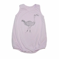 Go Gently Baby Organic Tank Onesie in Cool Lilac Ostrich