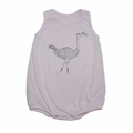 Go Gently Baby Organic Tank Onesie in Cool Lilac Ostrich - Coming soon!