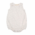Go Gently Baby Organic Tank Onesie in Natural Dots - last one size 3-6M!