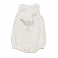 Go Gently Baby Organic Tank Onesie in Soft White Ostrich - Coming soon!