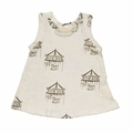 Go Gently Baby Organic Tank Top in Soft White Carousels - Coming soon!