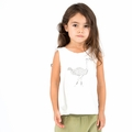 Go Gently Baby Organic Tank Top in Soft White Ostrich - Coming soon!