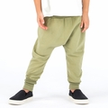 Go Gently Baby Organic Woven Harem Pant in Olive - Coming soon!