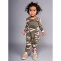 Joah Love Magnus Camo Romper in Ribbon - size 0-3M left!