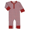 Kate Quinn Organic Henley Jumpsuit in Modern Calico - size 0-3M left!