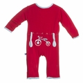 Kickee Pants Applique Coverall in Balloon Tricycle