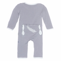 Kickee Pants Applique Coverall in Falling Feather
