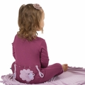 Kickee Pants Applique Coverall in Grapevine Sheep