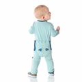 Kickee Pants Applique Coverall in Jade Angler Fish