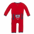 Kickee Pants Applique Coverall in Jazz Cassette Tape