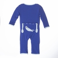 Kickee Pants Applique Coverall in Kite Otter